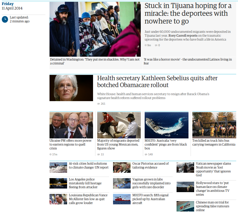 Curating the UK News frontpage with the new Guardian fronts tool